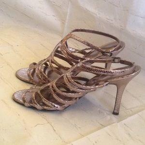 Nina Metallic slingback heels